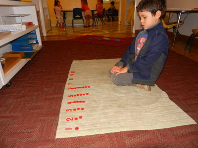 Numerals and counters test the child's ability to recognize numerals and count from 1 to 10.