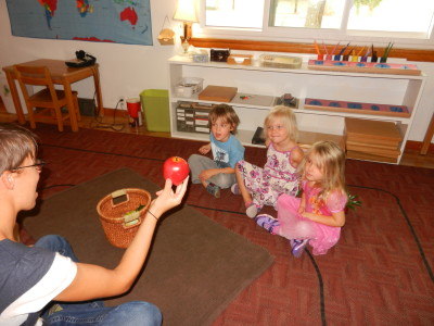 Group games are sometimes used to learn the name of fruits and vegetables found in our garden.