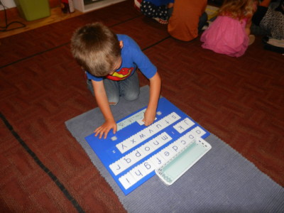Step boards can also be used to identifying beginning, ending and middle sounds.
